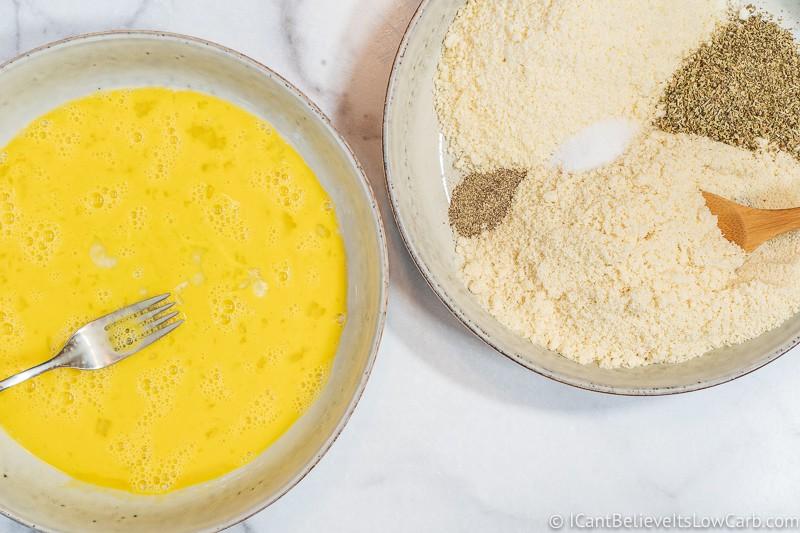 Keto Chicken Parmesan almond flour breading