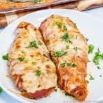 Easy Keto Chicken Parmesan featured