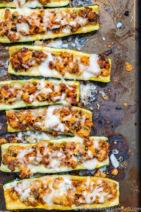 low carb stuffed Zucchini Boats