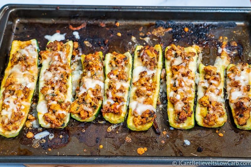Keto stuffed Zucchini Boats