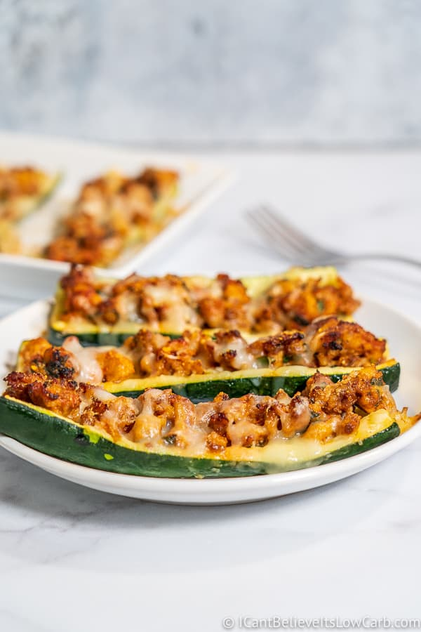 Keto stuffed Zucchini Boats Recipe