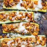 Keto Stuffed Zucchini Boats feature