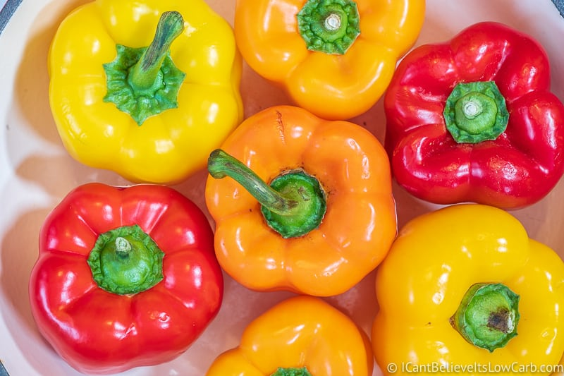 Low Carb Bell Peppers Red Yellow and Orange