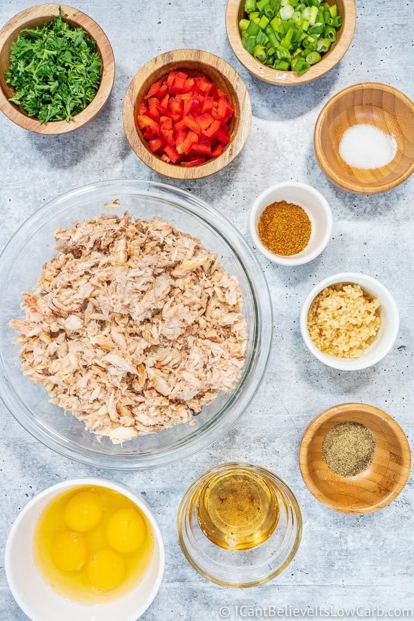 Ingredients for Crab Cakes
