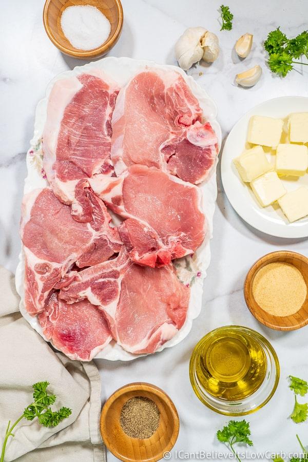 pan-fried garlic butter Pork Chops ingredients