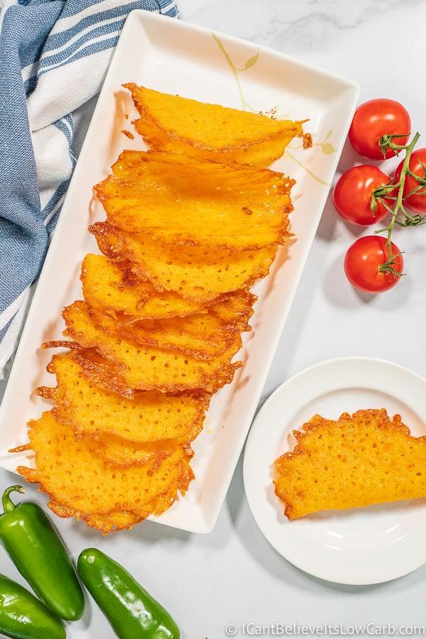 Easy Keto Cheese Taco Shells Recipe
