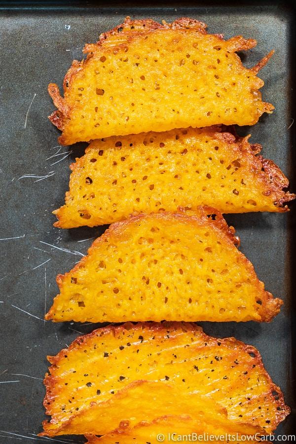 Cheddar Cheese Taco Shells