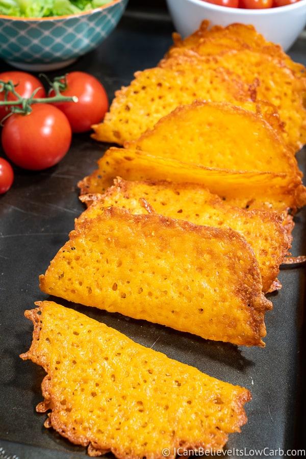 Keto Cheddar Cheese Taco Shells Recipe