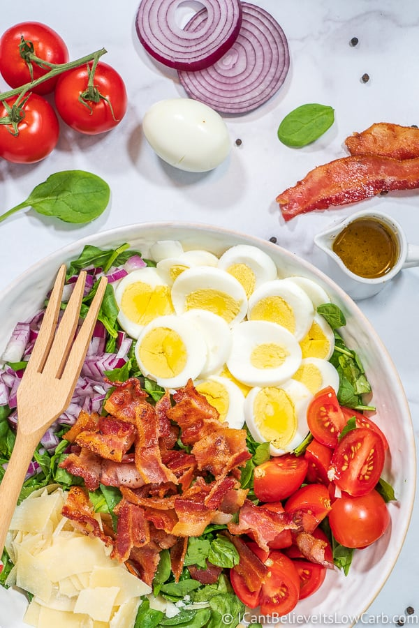 Best Spinach Salad with bacon