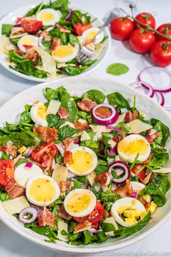 easy Spinach Salad recipe