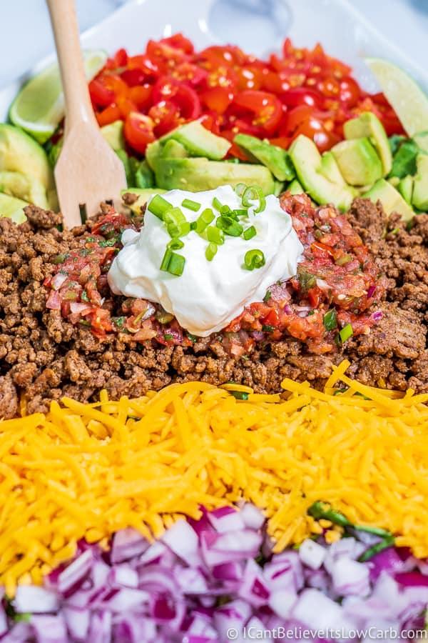 How to make Keto Taco Salad