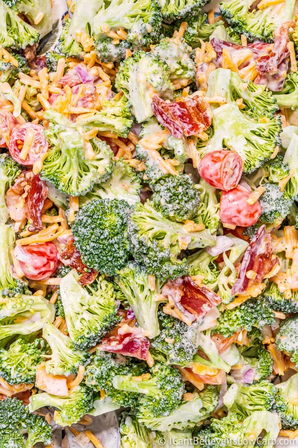 Keto Broccoli Salad with creamy dressing