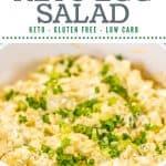 super simple keto egg salad pin