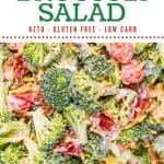 Keto Broccoli Salad Pin 1