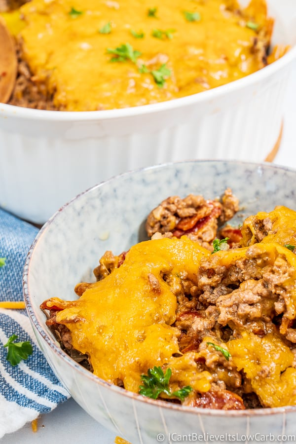 Keto Bacon Cheeseburger Casserole