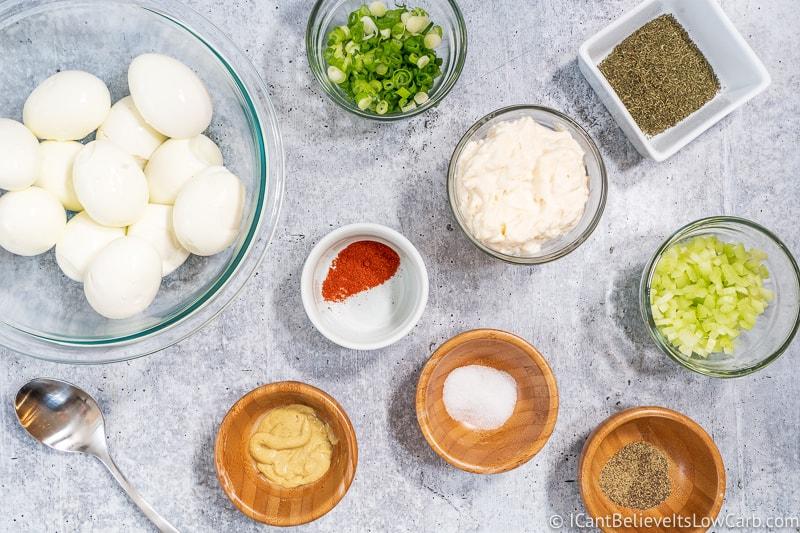 Keto Egg Salad ingredients