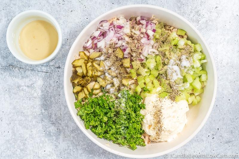 Keto Tuna Salad with salt