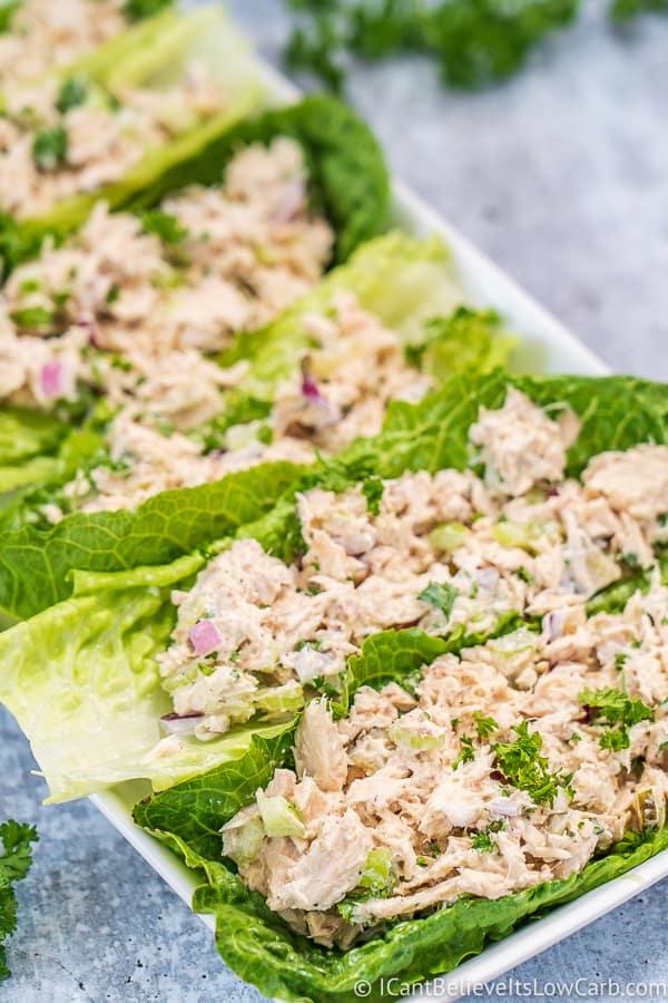 best Keto Tuna Salad lettuce wraps