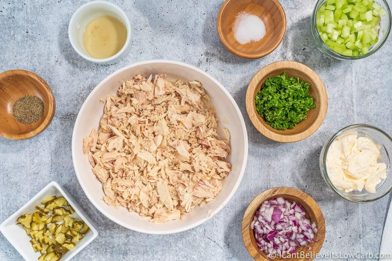 Low Carb Tuna Salad ingredients