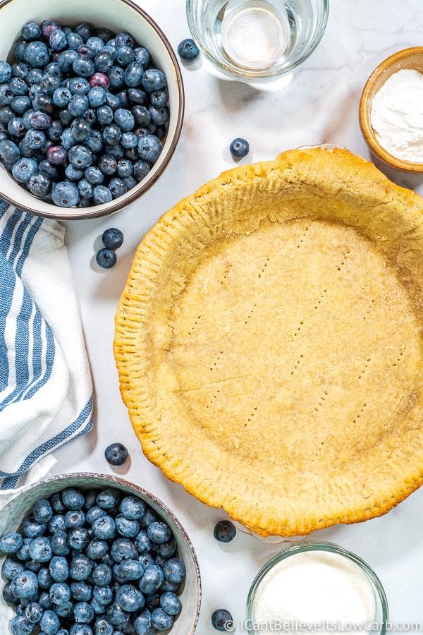 Keto Blueberry Pie ingredients