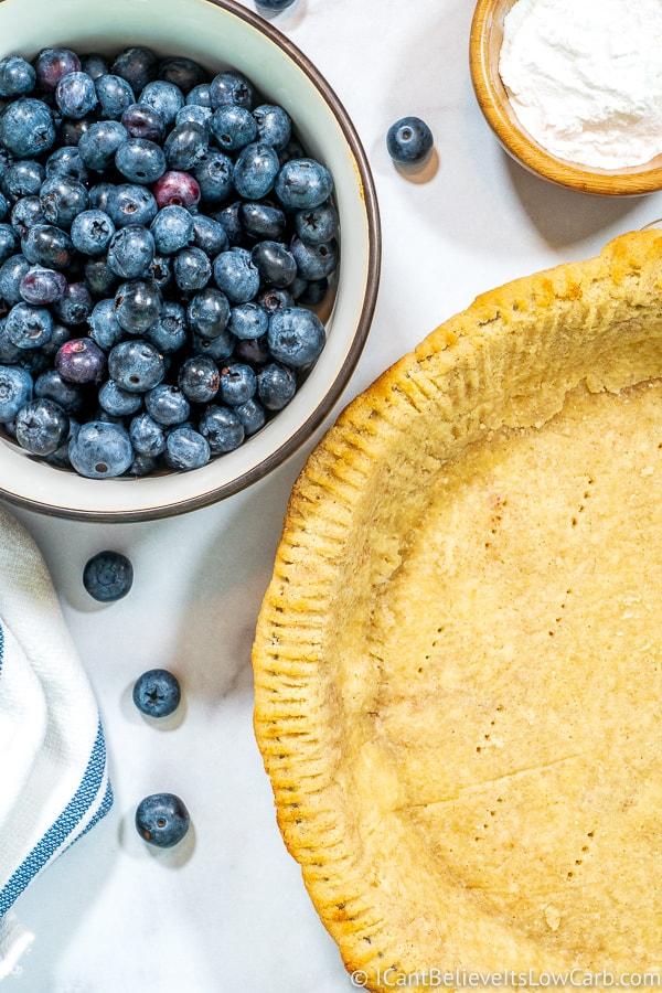 how to make Keto Blueberry Pie
