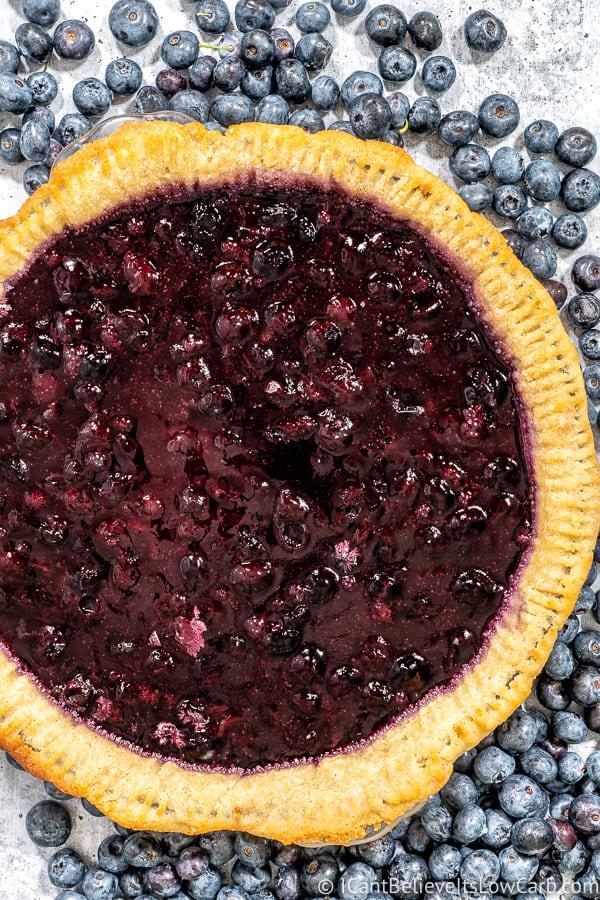 Keto Blueberry Pie recipe
