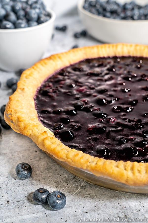 Keto Blueberry Pie filling