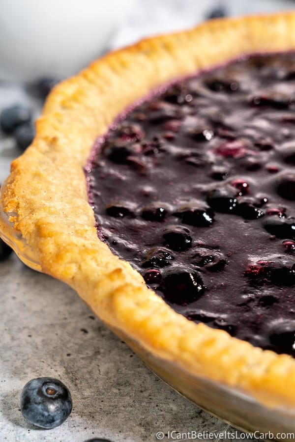 Sugar Free Blueberry Pie filling