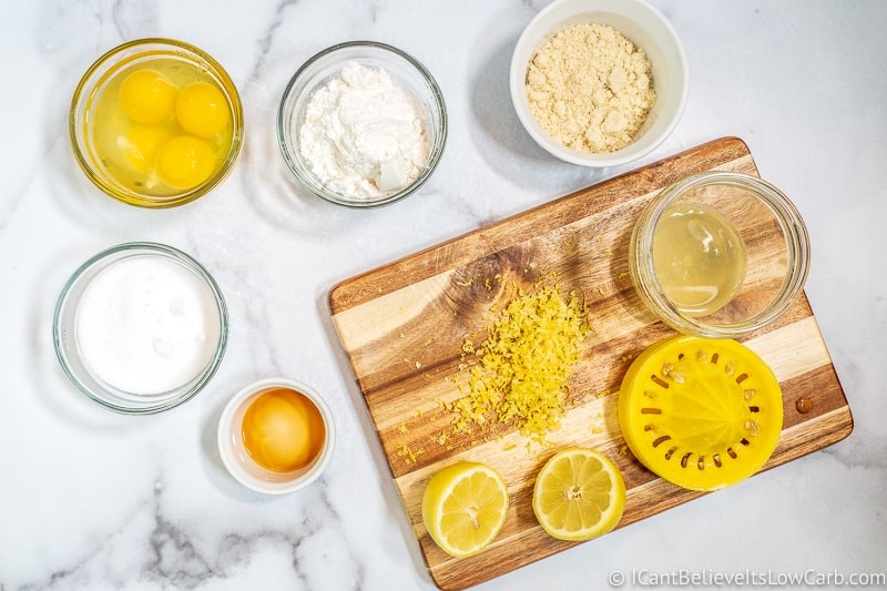 ingredients for Keto Lemon Bar filling