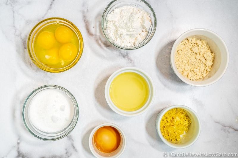 all sugar free Keto Lemon Bar ingredients