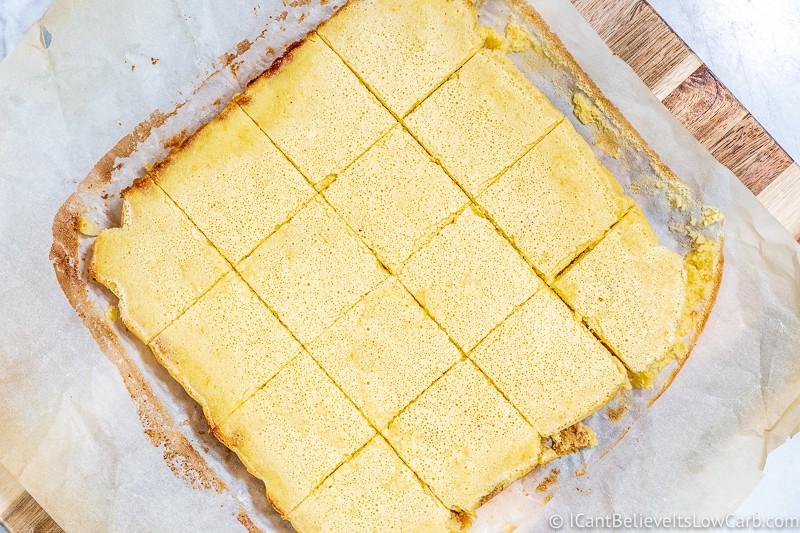 How to cut Lemon Bars