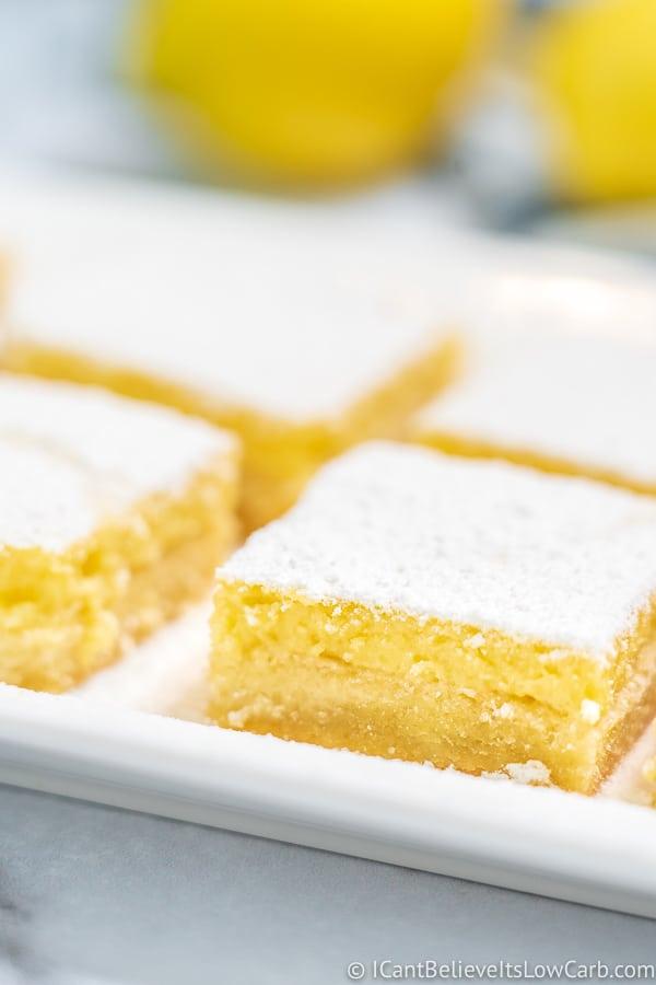 side view of Keto Lemon Bars