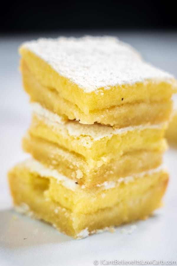 stack of Sugar-Free Lemon Bars