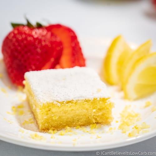 Keto Lemon Bars on a plate