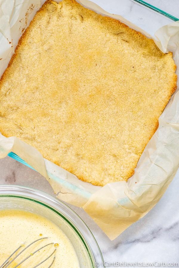 Low Carb Lemon Bar Crust