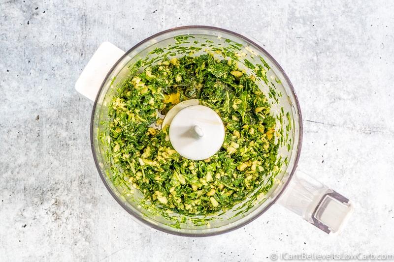 freshly blended Basil Pesto