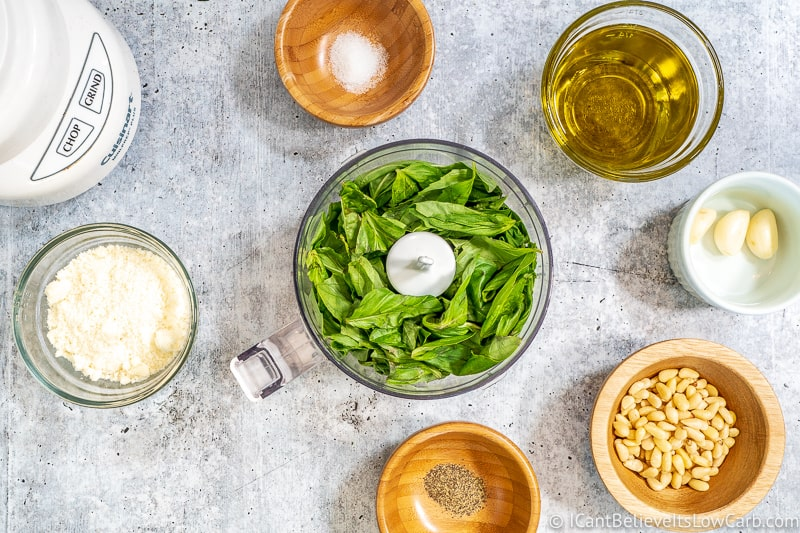 fresh basil for making Pesto