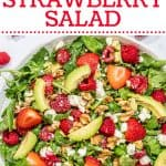 strawberry salad with avocado and feta Pinterest