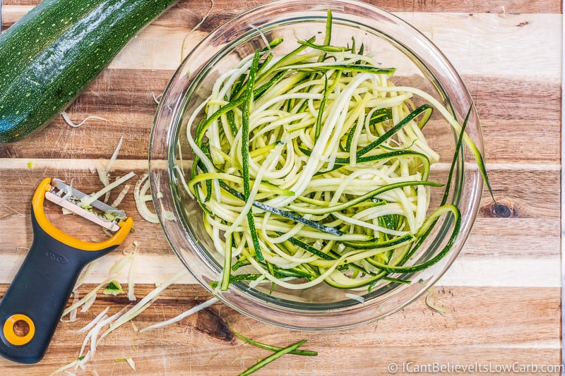 freshly made Zucchini Noodles