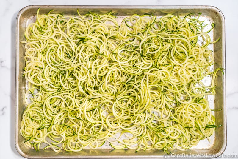 How to bake Zucchini Noodles