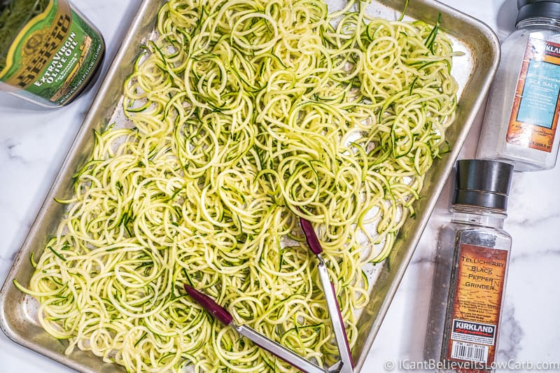 Making Zoodles in the oven