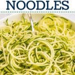 How to Cook Zoodles pinterest