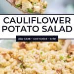 Keto Cauliflower Potato Salad Recipe Pinterest