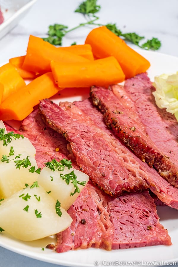 Corned Beef with carrots and jicama