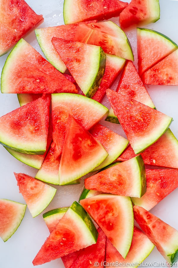 How to cut Watermelon into triangle wedges