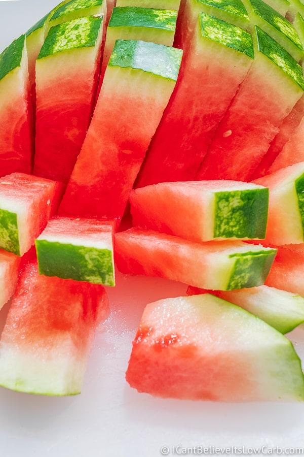 Cut Watermelon sticks
