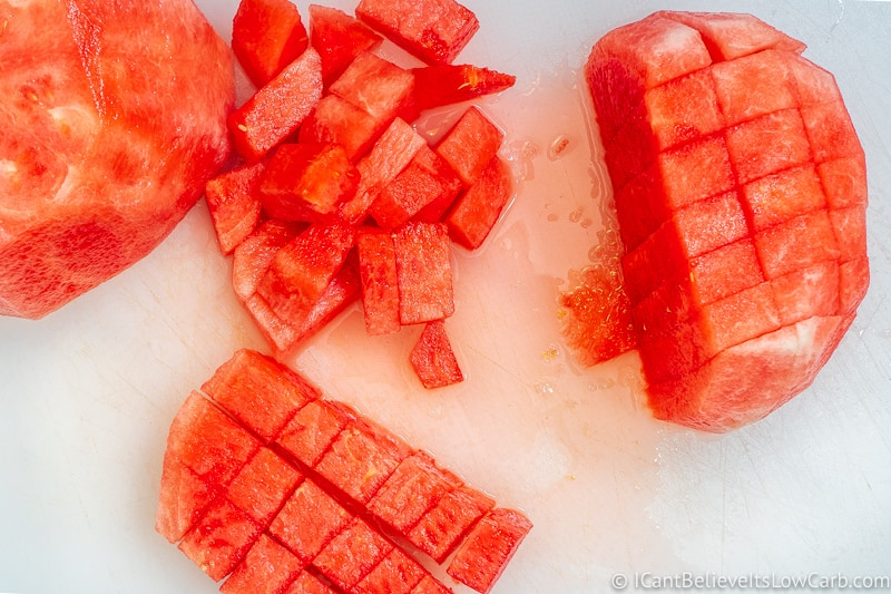 Easiest way to cut Watermelon cubes