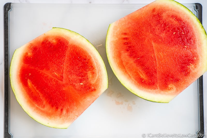 How to cut Watermelon in half