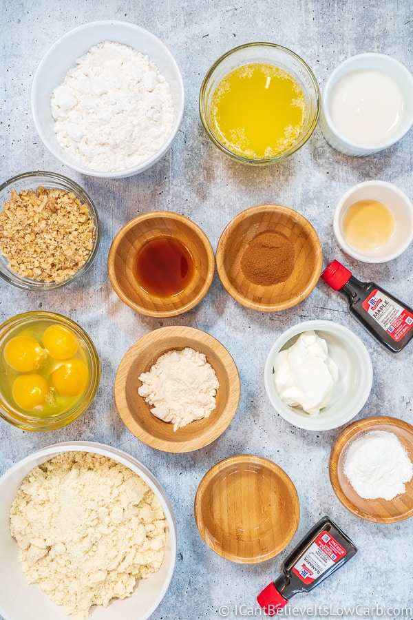 Ingredients for Almond Flour Keto Banana Muffins