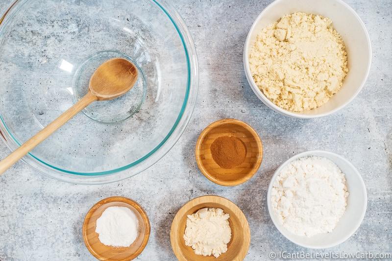 Keto Banana Muffins dry ingredients